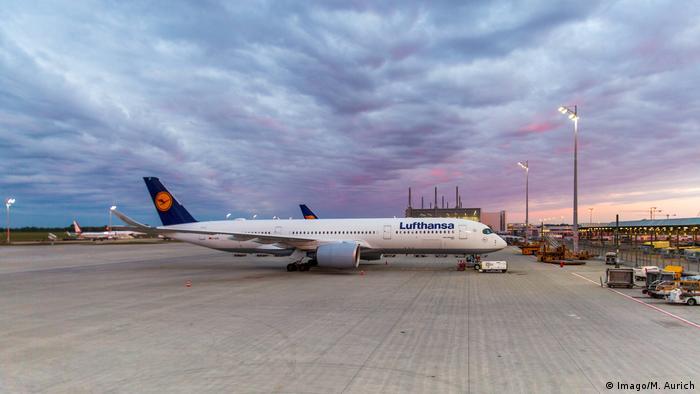 A Lufthansa aircraft