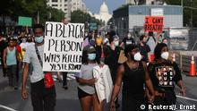 USA Washington | Tod George Floyd durch Polizeigewalt in Minneapolis | Protest