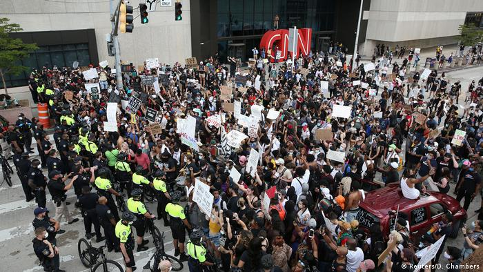 USA Atlanta | CNN | Tod George Floyd durch Polizeigewalt in Minneapolis | Protest
