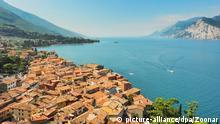 Italien | Luftaufnahme der Stadt Malcesine am Gardasee
