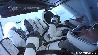 USA SpaceX Rakete mit zwei US-Astronauten von Cape Canaveral zur ISS gestartet (AFP/NASA TV)