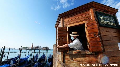 BdTD Italien Venedig |Corona |Gondelfahrten (Getty Images/AFP/A. Pattaro)