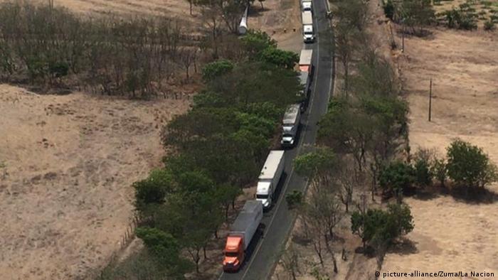 Nicaragua Grenze zu Costa Rica | LKW-Schlangen
