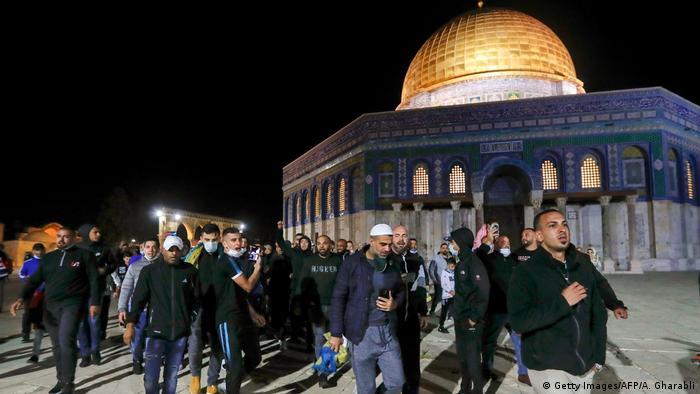 Israel Jerusalem   Al-Aqsa-Moschee wieder geöffnet