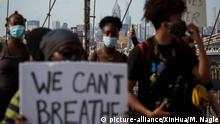 USA Proteste nach dem Tod von George Floyd | Plakate I Can't Breathe