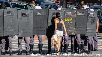 Brasilien Sao Paolo Proteste für und gegen die Regierung