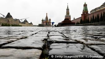 Москва, пустая Красная площадь