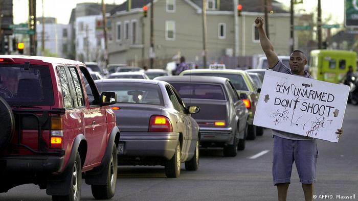 USA Proteste gegen Rassismus und Polizeigewalt 2001 (AFP/D. Maxwell)
