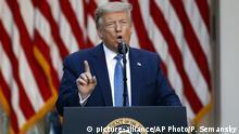 Proteste in den USA | US-Präsident droht wegen Unruhen mit Militäreinsatz