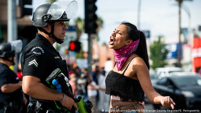 USA | Proteste gegen Polizeigewalt - Tod von George Floyd (picture-alliance/ZUMAPRESS/Orange County Register/S. Reingewirtz)