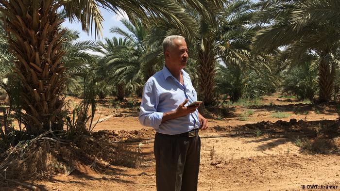 Ibrahim Daiq in his date grove