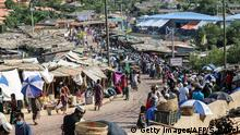 15.04.2020 *** Rohingya refugees gather at a market as first cases of COVID-19 coronavirus have emerged in the area, in Kutupalong refugee camp in Ukhia on May 15, 2020. - Emergency teams raced on May 15 to prevent a coronavirus nightmare in the world's largest refugee settlement after the first confirmed cases in a sprawling city of shacks housing nearly a million Rohingya. (Photo by Suzauddin RUBEL / AFP) (Photo by SUZAUDDIN RUBEL/AFP via Getty Images)