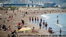 Spanien Malaga | Coronavirus | Menschen am Strand