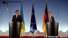 Deutschland Berlin |Dmytro Kuleba, Außenminister Ukraine & Heiko Maas, Bundesaußenminister