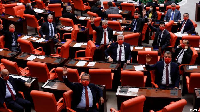 Türkei Ankara Parlament Coronavirus