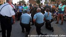 USA Proteste Polizisten gedenken George Floyd