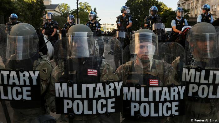 USA Washington DC | Proteste gegen Polizeigewalt vor dem weißen Haus- Tod von George Floyd