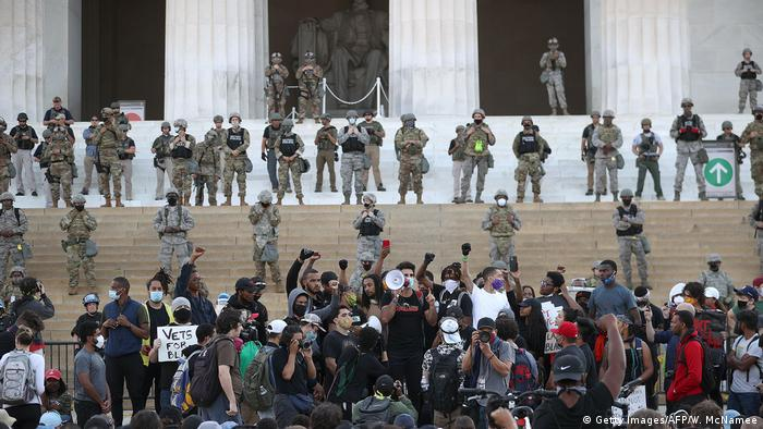 USA Washington Lincoln Memorial | nach Tod George Floyd durch Polizeigewalt in Minneapolis | National Guard (Getty Images/AFP/W. McNamee)