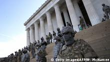 USA Washington Lincoln Memorial | nach Tod George Floyd durch Polizeigewalt in Minneapolis | National Guard