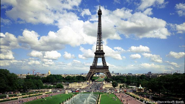 Eiffel Tower in Paris, France - a favorite among international tourists