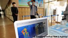 Südkorea Chungju | Coronavirus | Schulöffnungen