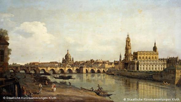 Dresden em pintura de Canaletto, de 1734