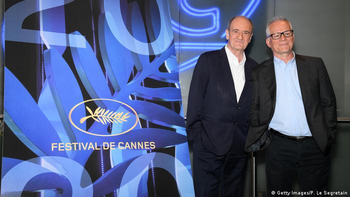 Президент Каннського кінофестивалю П'єр Лескюр (л) та художній керівник подіїТ'єррі Фремо