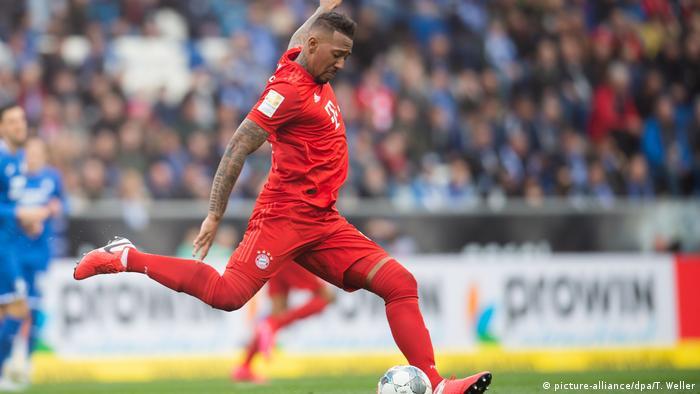 Jerome Boateng kicks the ball