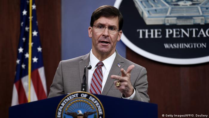 USA Washington | US-Verteidigungsminister | Mark Esper (Getty Images/AFP/O. Douliery)