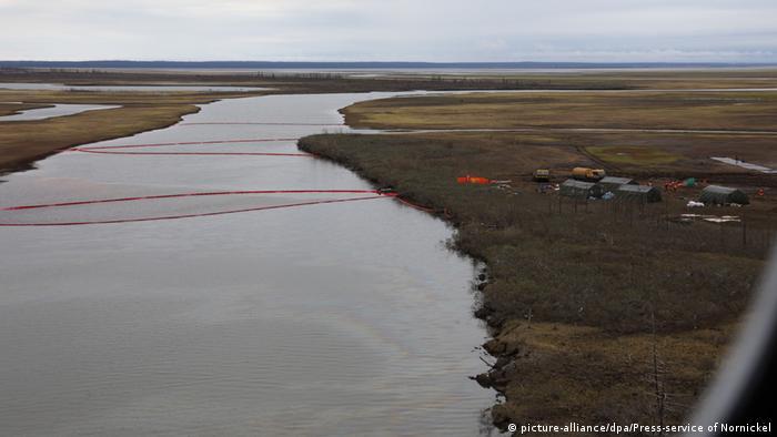 Aspecto de las labores de limpieza en el Ártico ruso