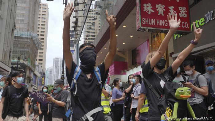 Proteste in Hongkong (picture-alliance/dpa/AP/V. Yu)