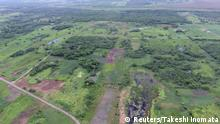 An aerial view of the ancient Maya Aguada Fenix site in Mexico's Tabasco state, with causeways and reservoirs in the front and the Main Plateau in the back, is seen in this image released on June 3, 2020. Takeshi Inomata/Handout via REUTERS ATTENTION EDITORS - NO RESALES. NO ARCHIVES THIS IMAGE HAS BEEN SUPPLIED BY A THIRD PARTY.