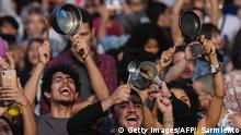 Kolumbien Medellin | Proteste | Töpfe