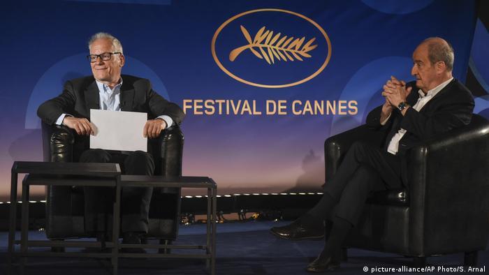 Direktur dan Presiden Festival Film Cannes Thierry Fremaux (kiri) dan Pierre Lescue (kanan)