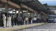 Ecuador Quito Busbahnhof während Coronavirus-Pandemie