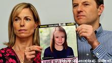Fall der verschwundenen Madeleine McCann Portugal Eltern mit Fotoretusche ihrer Tochter