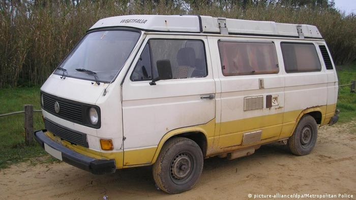 El vehículo en el que vivió durante algún tiempo el sospechoso en Portugal.
