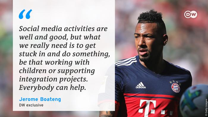 Jerome Boateng, in conversation with DW