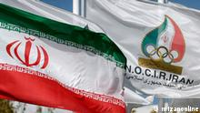 Flagge des olympischen Nationalkomitees in Iran