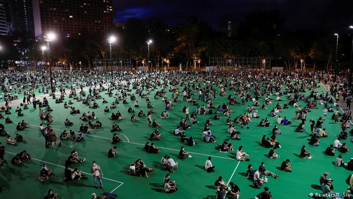 Hong Kong protest Victoria Park