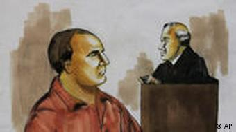 A courtroom drawing shows David Headley,left, before US District Judge Harry Leinenweber in Chicago
