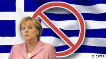 Symbolbild Merkel sagt nein zu Griechenland