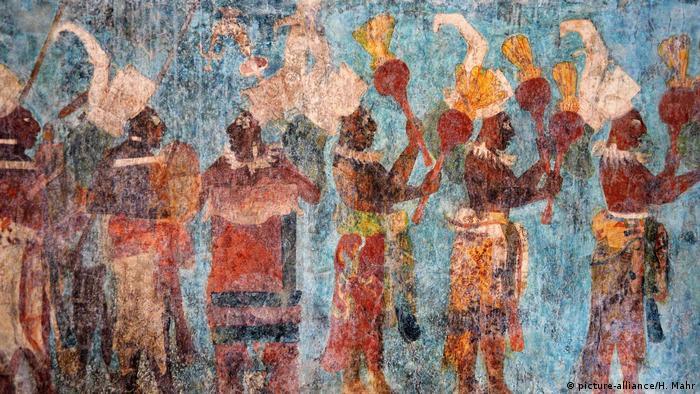 Pintura mural maya en Chiapas (foto-alianza / H. Mahr)