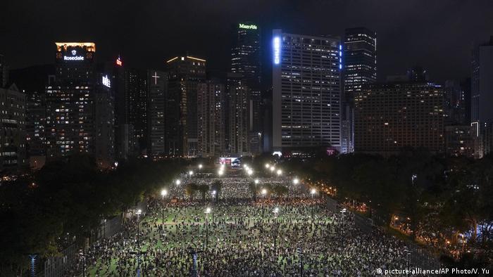 Hongkong   Gedenken an das Tian'anmen-Massaker