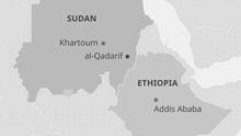 Karte Sudan Äthiopien EN