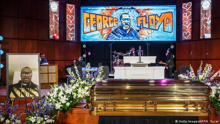 USA Minneapolis Gedenkfeier für George Floyd (Getty Images/AFP/K. Yucel)