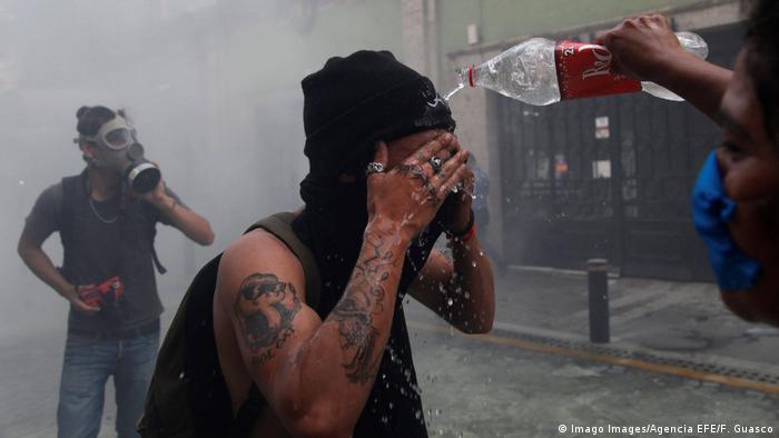 Foto de manifestante en México