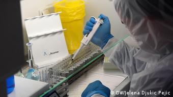 Тест на антитела в лаборатории