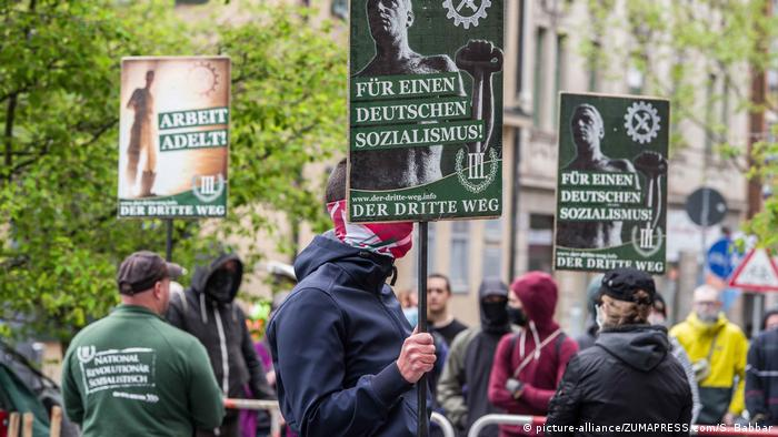 Members of The Third Way protest in Munich