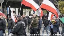 Deutschland Partei Kundgebung der Neonazi-Partei Die Rechte
